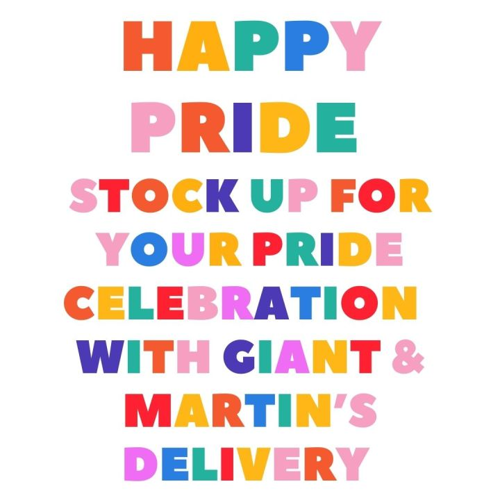 Stock up for your Pride Celebration with Giant and Martin's deliveryservices