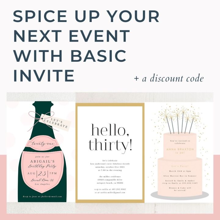 Spice up your event with Basic Invite + a discountcode